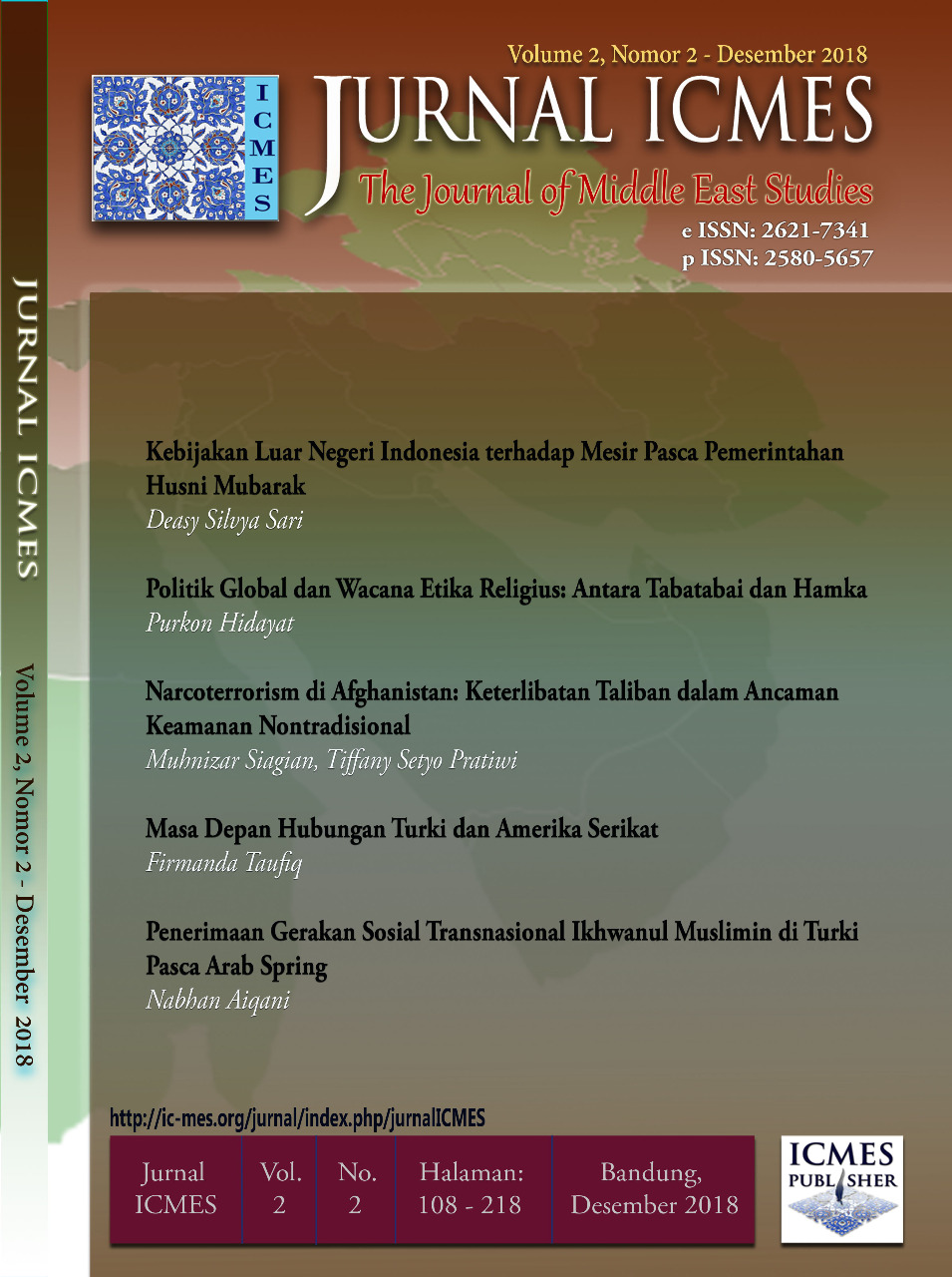 cover Jurnal ICMES Vol. 2 No. 2 (2018)