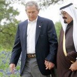 King Abdullah and Bush