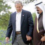 King Abdullah and Bush