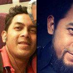 Ridwan Agustin. Foto kiri sebelum dan foto kanan sesudah terpengaruh ISIS. (Russian Today)