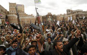 rakyat Yaman demo memprotes serangan Saudi