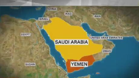 saudi dan yaman peta