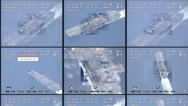 rekaman drone iran