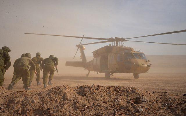 latihan perang pasukan israel
