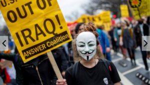 Demo anti tentara AS Irak