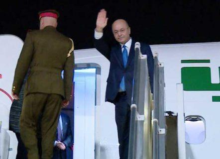 irak barham saleh di pesawat