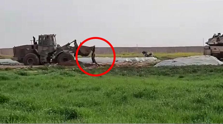 israel membuldoser mayat pejuang palestina