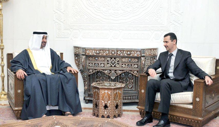 bashar assad dan bin zayed