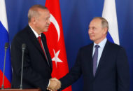 Presiden Turki Erdogan dan Presiden Rusia Putin  (Foto:MAXIM SHIPENKOV/AFP/Getty Images)