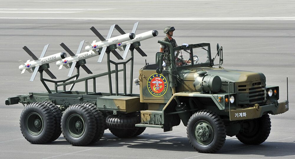 Israeli-made Spike missiles