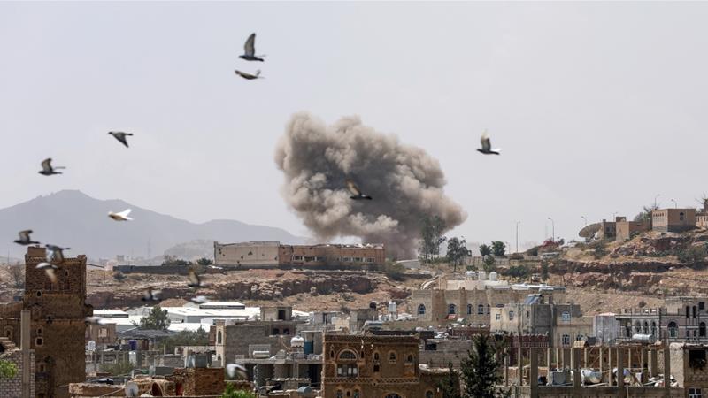 serangan saudi di yaman