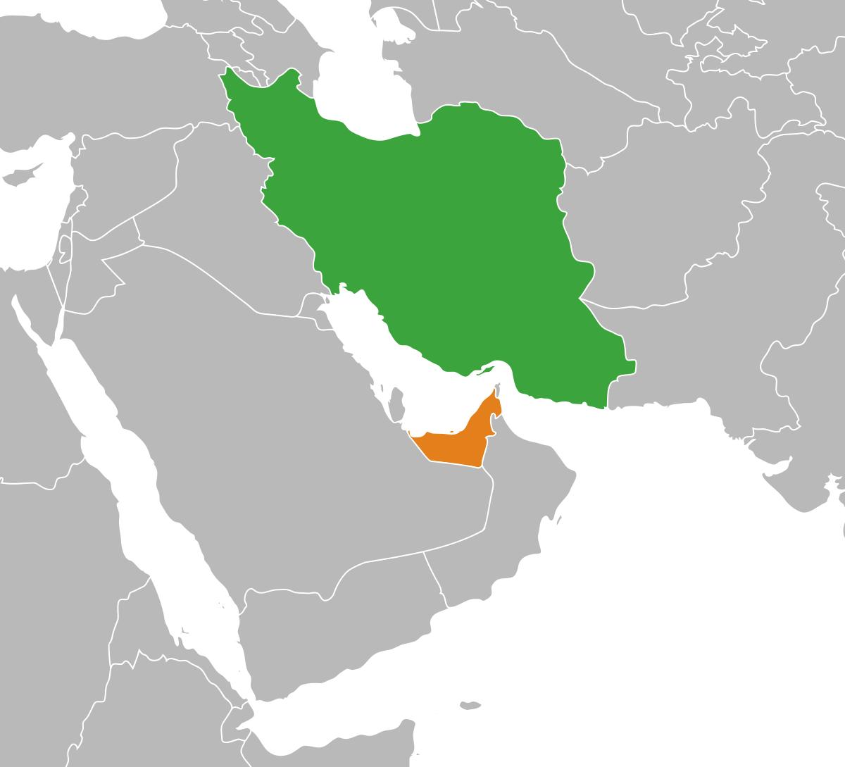 peta iran dan UEA