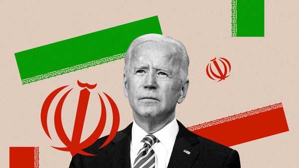 biden dan bendera iran