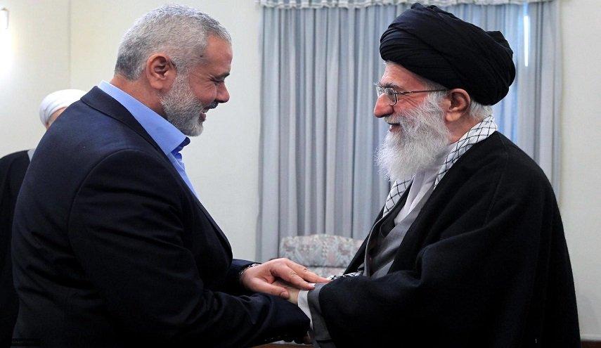 ayatullah khamenei dan ismail haniyeh
