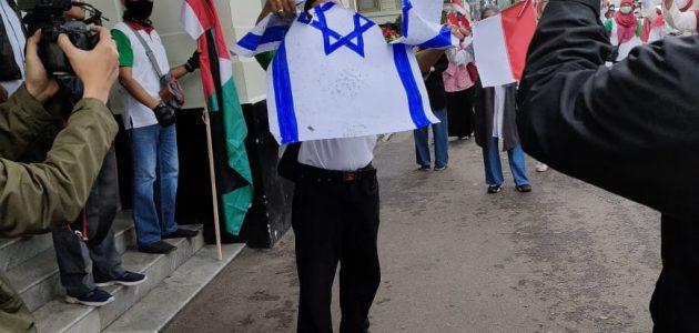 demo anti israel di bandung 2021