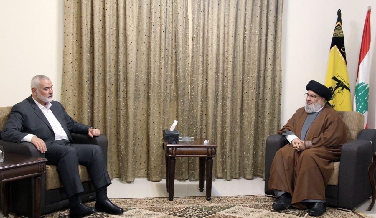 sayid nasrallah dan ismail haniyeh