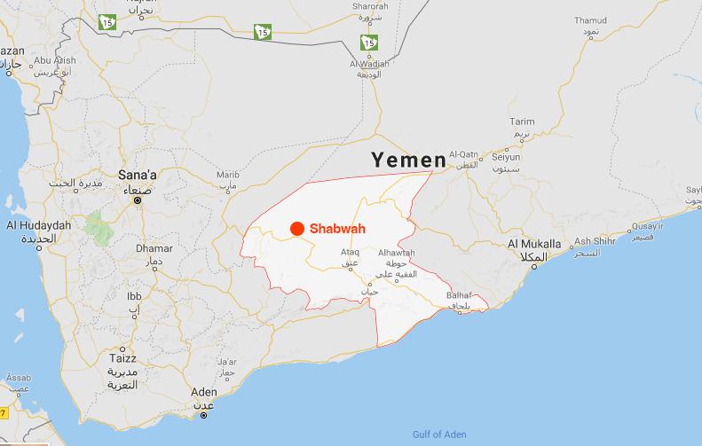 peta shabwah yaman